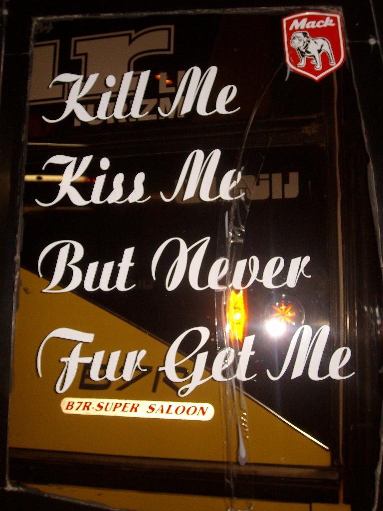 mensajes en los autobuses